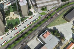 tramvaj dědina parkování