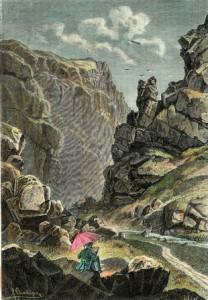 Koho by volil tento občan? Divoká Šárka na dobové ilustraci - cca 1880.