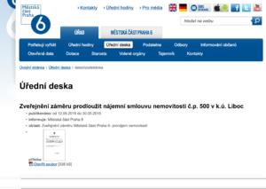 Úřední deska Praha 6