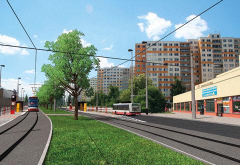 Vizualizace tramvaje na Dědinu z dřívějších dokumentů. Zdroj: DPP